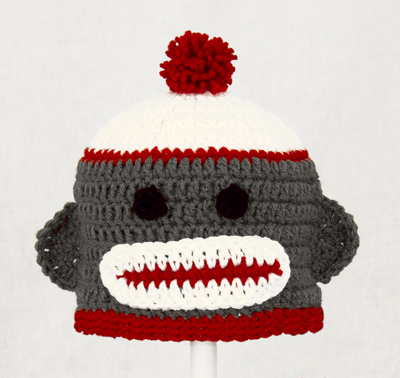 Gray Sock Monkey Hat