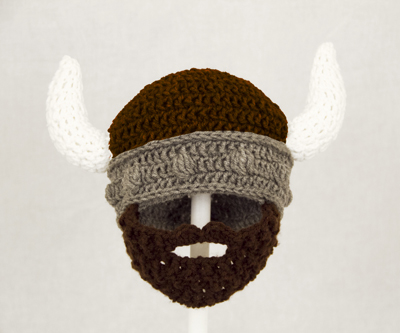 Brown Viking Beard Hat