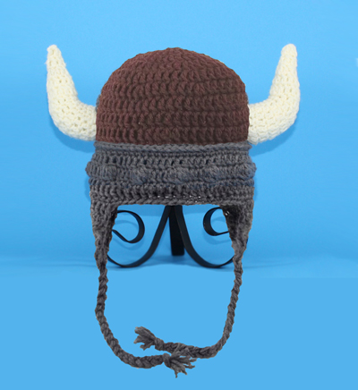 Brown Viking Earflap Hat