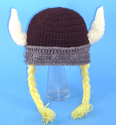 Brown Viking Hat with Braids